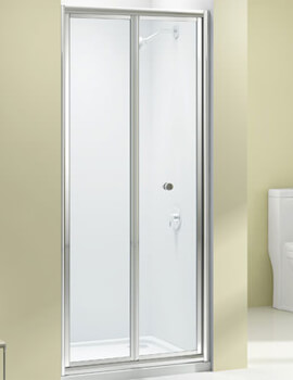 Merlyn Ionic Source 4mm Glass Bifold Shower Door 700 x 1850mm - Sizes Available