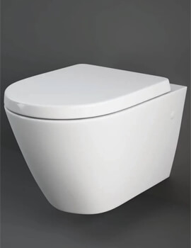 Rak Resort Wall Hung WC Pan With Soft Close Seat - Image