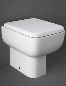 RAK Series 600 Back-To-Wall WC Pan With Soft Close Seat - Image