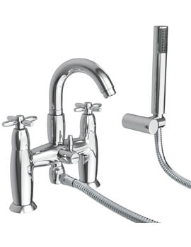 Abode Opulence Deck Mounted Bath Shower Mixer Tap With Handset - Image