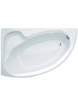 Roca Devina 1550 x 950mm Right Hand Corner Acrylic Bath With 2 Tap Holes