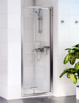 Aqualux Shine 6 1850mm High Bi-Fold Shower Door - Image