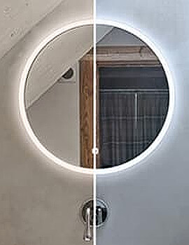 HIB Sphere 60 LED Illuminated Round Mirror 600mm