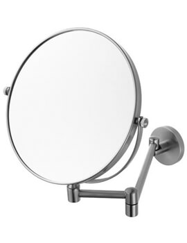 Haceka Pro 2500 Shaving Mirror Brushed Nickel - 1190846 - Image