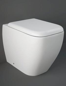 RAK Metropolitan Back To Wall WC Pan With Soft-Close Seat 525mm - Image