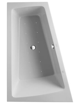 Duravit Paiova Built In Whirlpool Bath With One Backrest Slope