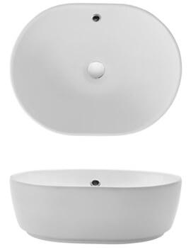 Crosswater Pearl Stylish Countertop Basin - 450 x 350mm