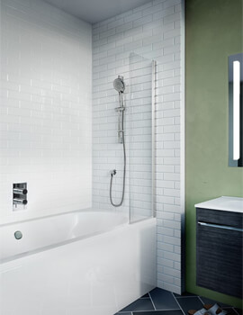 Crosswater Kai 6 1280mm Height Bath Screen