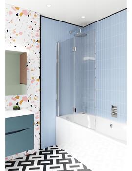 Crosswater Design Plus 1060mm x 1500mm Double Bath Screen