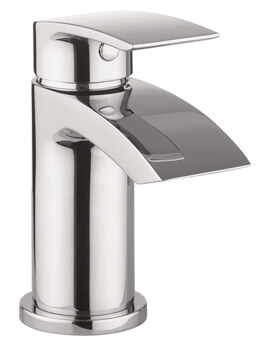 Crosswater Flow Basin Monobloc Tap With Click Clack Waste