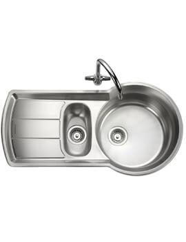 Rangemaster Keyhole 1.5 Bowl Stainless Steel Kitchen Sink