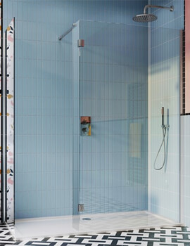 Crosswater Design Plus Double Sided Walk In Enclosure 1400 x 900mm