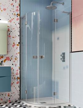 Crosswater Design Plus Quadrant Double 800mm Hinged Door Enclosure