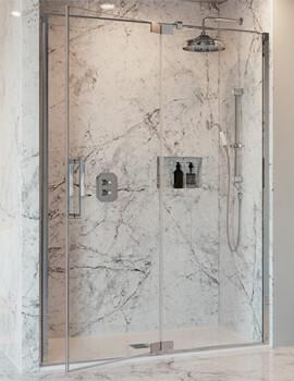 Crosswater Optix 10 Pivot Door With Inline Panel