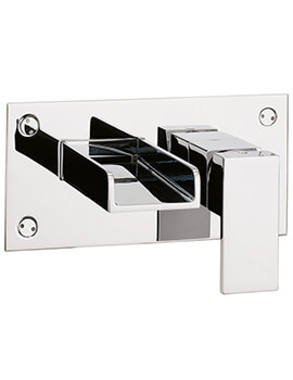 Crosswater Water Square Wall Mounted 2 Hole Basin Mixer Tap