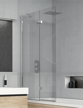 Kudos Inspire 875 x 1500mm Two Panel In-Fold Bath Screen