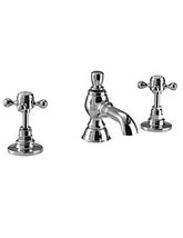 Imperial Victorian Half Inch 3 Hole Basin Or Bidet Mixer Tap Chrome