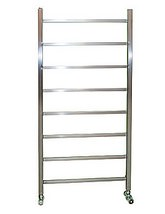 Apollo Genova Brushed Stainless Steel 500 x 800mm Towel Rail