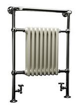 DQ Heating Croxton Floor Mounted Heated Towel Rail 998 x 956mm