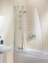 Lakes Classic Silver Double Panel Sculpted Bath Screen 1175mm