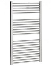 Bauhaus Design Flat Panel Towel Rail Chrome 500 x 1110mm - DE50X111C