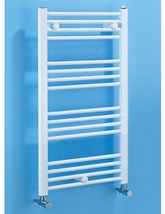 Biasi Dolomite White Straight Ladder Towel Rail 400 x 1100mm