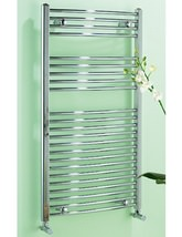 Biasi Dolomite Chrome Curved 600mm Wide Towel Rail