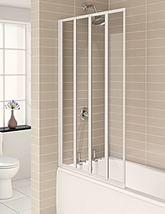 Aqualux Aqua 4 White 4-Fold Bath Screen 840 x 1400mm