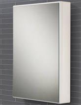 HIB Tulsa Slimline Single Door Mirrored Cabinet 500 x 700mm - 9101600