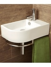 HIB Malo Temoli Cloakroom Basin With Towel Rail - 8976