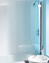Simpsons Classic 8mm Clear Glass Hinged Bath Screen 860 x 1385mm