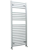 DQ Heating Orion 500 x 1200mm Curved Heated Towel Rail White