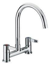 Bristan Design Utility Kitchen Deck Lever Handles Sink Mixer Tap - DUL DSM C