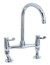 Deva Lever Action Bridge Sink Mixer Tap 3 Inch Lever