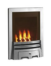 Flavel Windsor Manual Control Gas Fire Silver-Coal