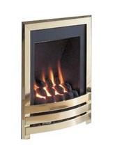 Flavel Windsor Manual Control Inset Gas Fire Brass-Coal
