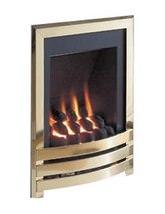 Flavel Windsor Manual Control Gas Fire Brass-Pebble