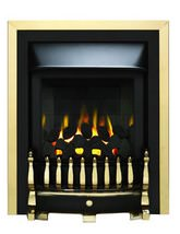 Valor Blenheim Slimline Homeflame Inset Gas Fire Brass - 0596411