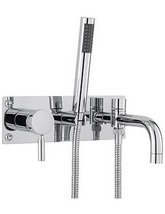 Hudson Reed Tec Wall Mounted Bath Shower Mixer Tap With Kit
