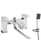 Beo Quanto Deck Mounted Dual Lever Bath Shower Mixer Tap With Kit