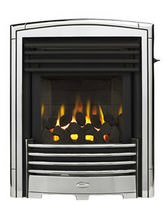 Valor Petrus Slimline Homeflame Inset Gas Fire Silver-Chrome - 0596341