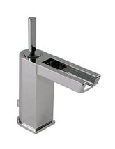 Porcelanosa Noken Nora Single Lever Basin Mixer Tap With Light And Waste