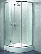 Aqualux Shine Quadrant Shower Enclosure 900 x 900mm Polished Silver