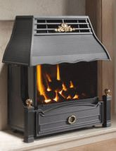 Flavel Emberglow Balance Flue Gas Fire No Chimney Black - FEBC00MN