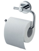 Aqualux Haceka Kosmos Chrome Toilet Roll Holder - 1121427