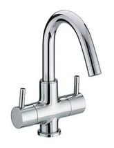 Bristan Prism 2 Handle Basin Mixer Tap With Swivel Spout - PM BAS2 C