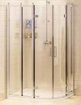 Burlington 1000 x 800mm Double Door Offset Shower Quadrant Enclosure  - BU41
