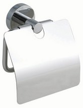 Red Dot Smooz Toilet Roll Holder With Cover Chrome