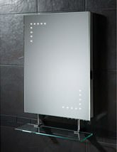 HIB Celeste LED Bathroom Mirror With Glass Shelf And Shaver Socket