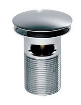 Roper Rhodes Dome Top Spring Slotted Basin Waste Chrome - WASTE10